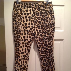 Zara animal print pants.